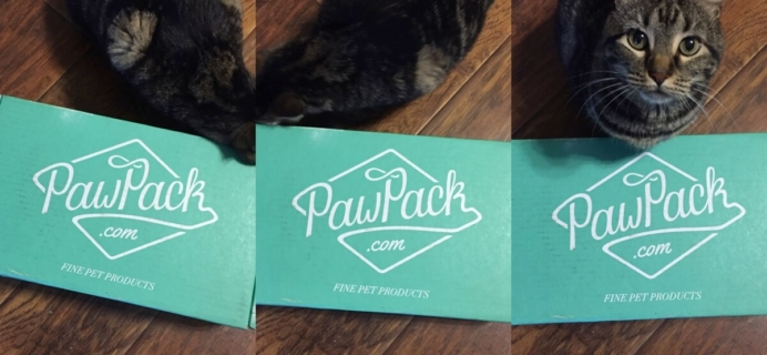 March 2015 PawPack Cat Subscription Box Review & Coupon