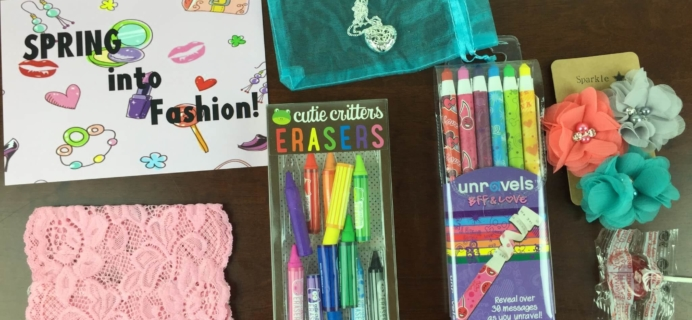 April 2015 PoshPak Girls Subscription Box Review