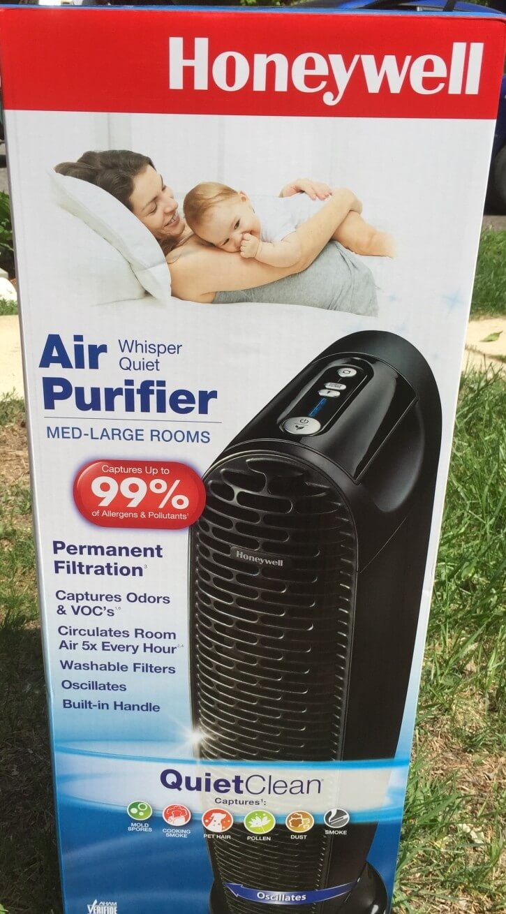 Honeywell Whisper Quiet Air Purifier Review & Giveaway