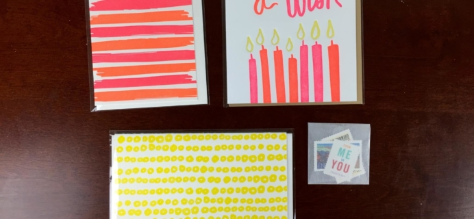 Nicely Noted Greeting Card Subscription May 2015 Review