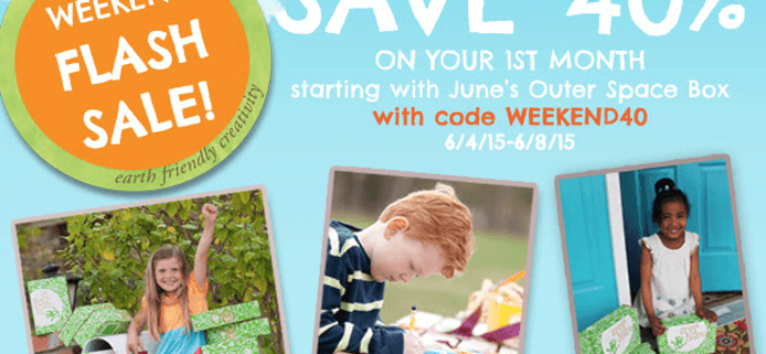 Green Kid Crafts Flash Sale Coupon – 40% Off First Box!