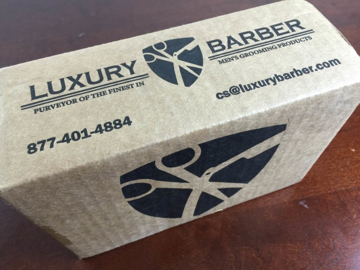 luxury barber box june 2015 review outer box