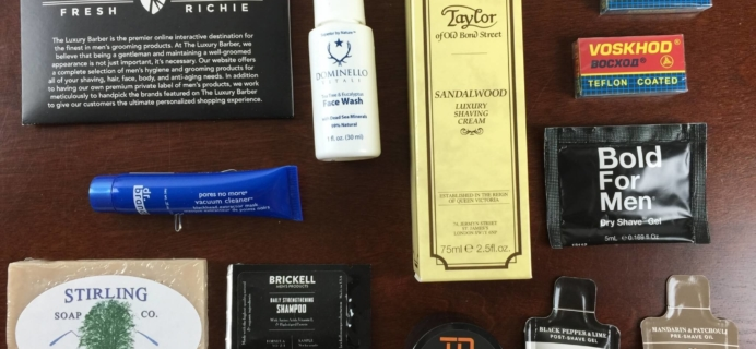 Luxury Barber Men's Subscription Box Review – June 2015