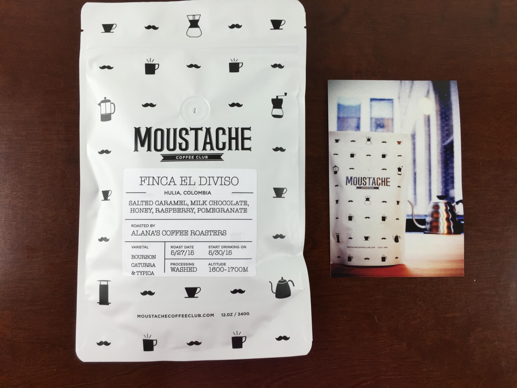 Moustache Coffee Club June 2015 Subscription Review + Free Trial