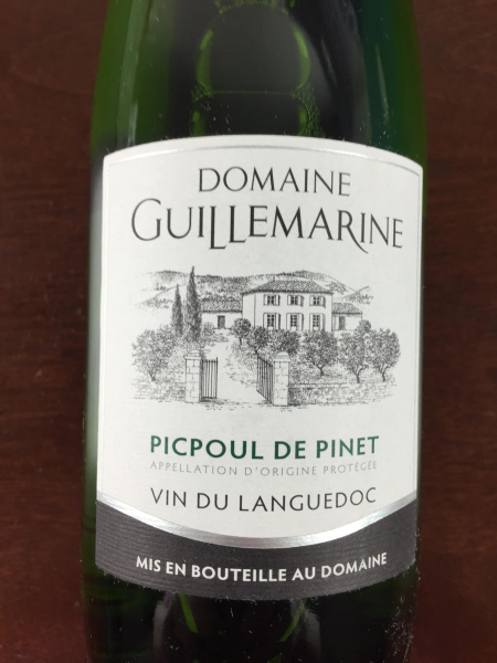 wine awesomeness june 2015 2014 Guillemarine Picpoul de Pinet