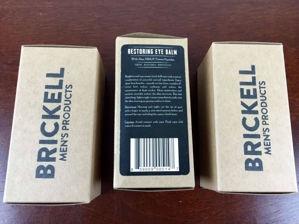 Brickell Mens Products Subscription Box Review – July 2015