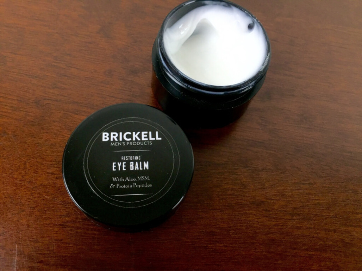brickell mens box subscription july 2015 eye balm