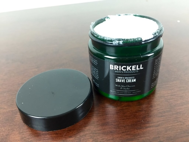 brickell mens box subscription july 2015 shave cream