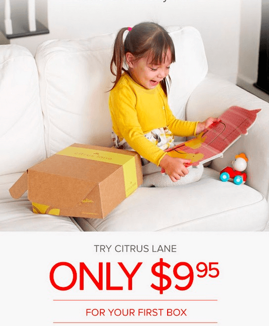 Today Only Citrus Lane First Box $9.95!