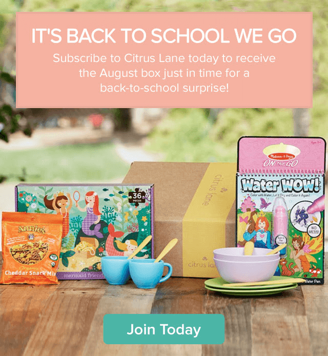 Citrus Lane Free Back to School Kit + 30% Off First Box Coupon Codes
