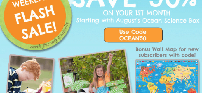 Green Kid Crafts Coupon – Half Off August Ocean Science Box + Bonus Map!