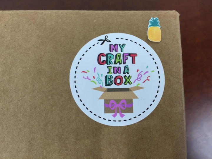 my craft in a box review july 2015 pineapple hello subscription