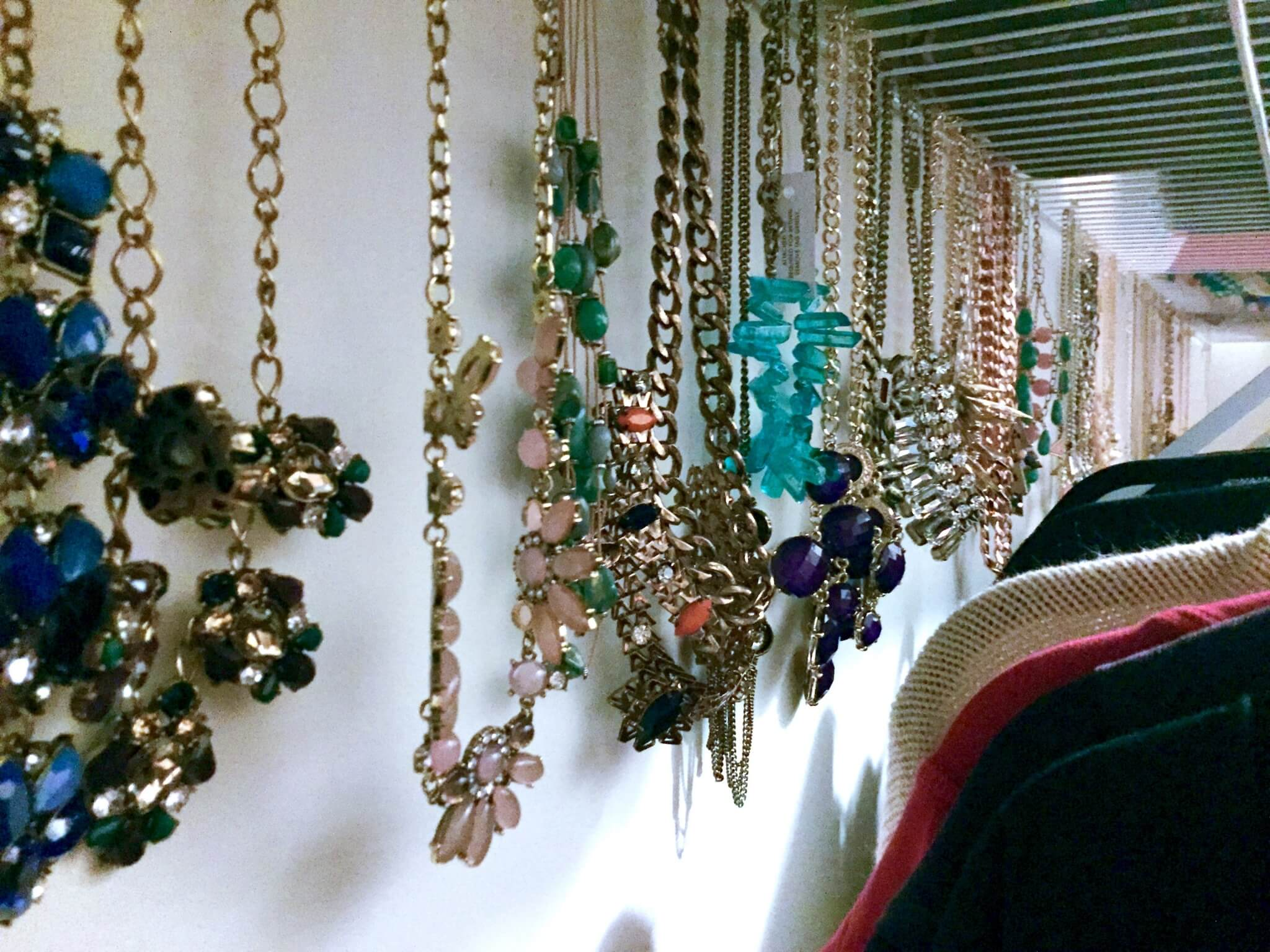 Necklace Organizing Idea!