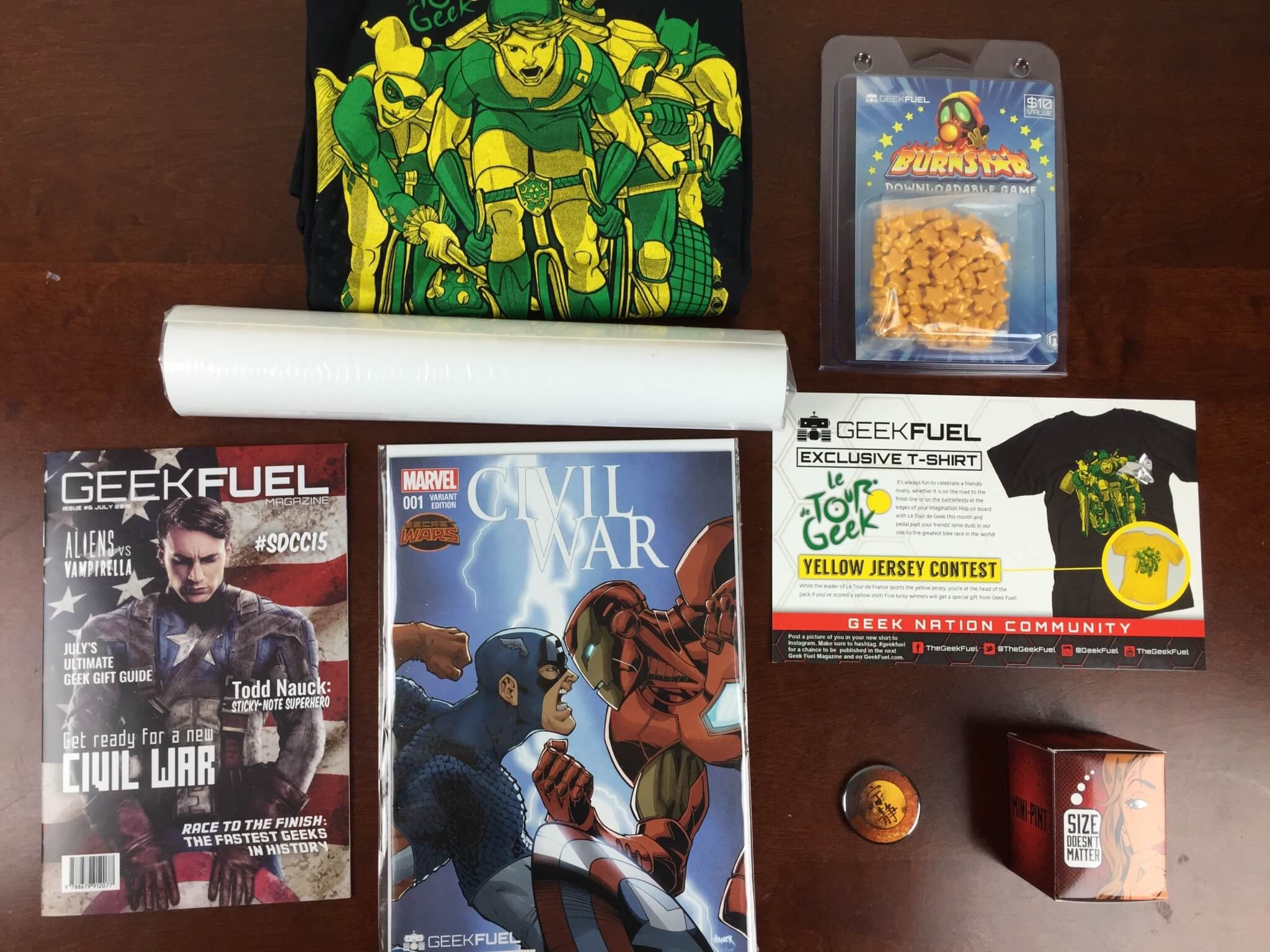 Geek Fuel Subscription Box July 2015 Review & Coupon