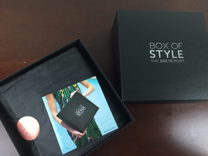 rachel zoe report box of style summer 2015 box
