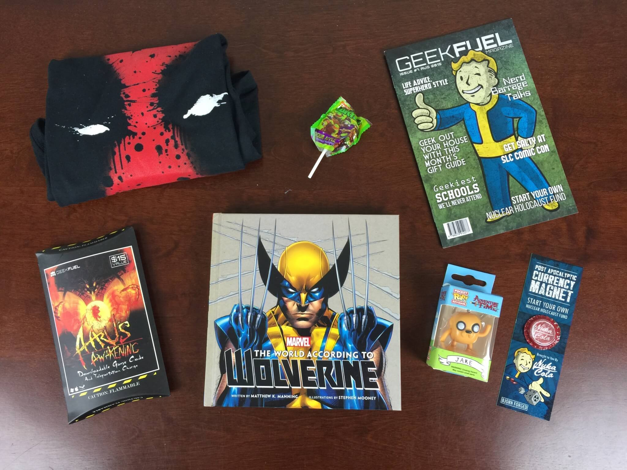 August 2015 Geek Fuel Subscription Box Review & Coupon