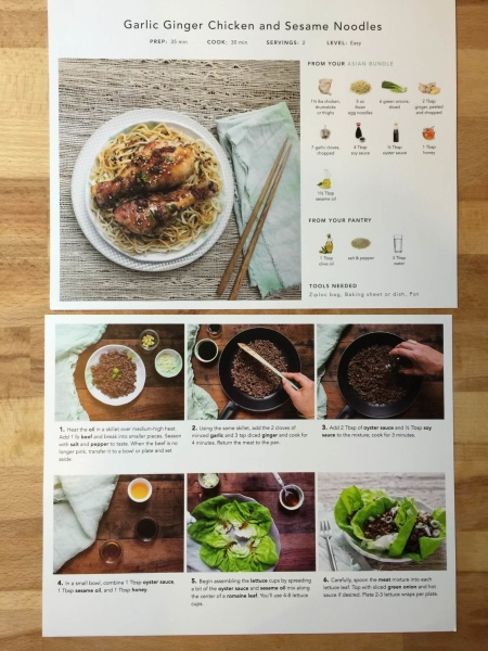 Handpick smart groceries meal box review august 7 2015 hello handpick subscription box august 2015 recipe cards forumfinder Gallery