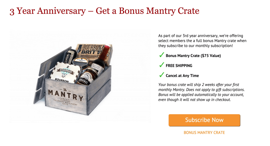 Mantry Free Bonus Cocktail Crate Deal – This Weekend Only!