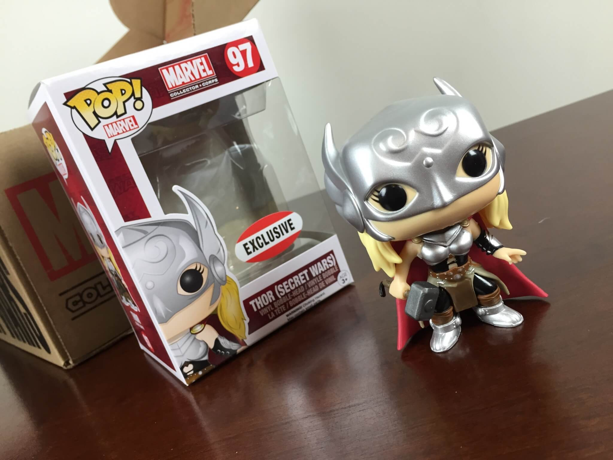 marvel collector corps secret wars august 2015 funko exclusive thor
