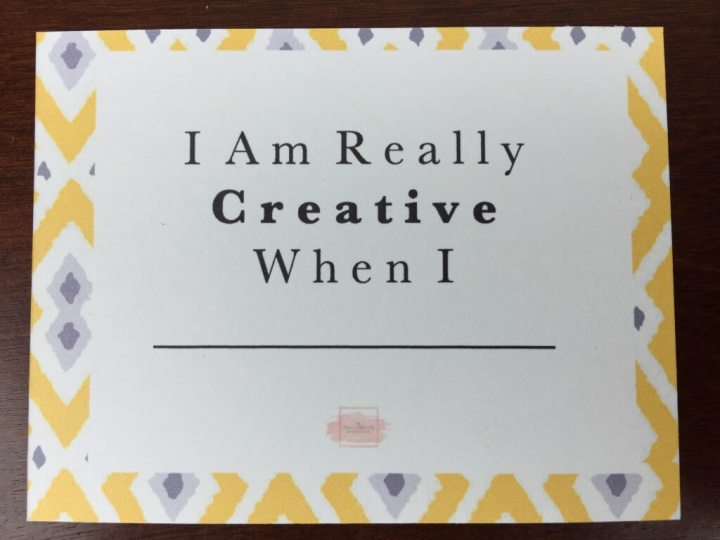 planner addict box august 2015 card front