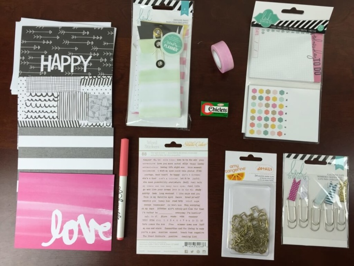 planner addict box august 2015 review