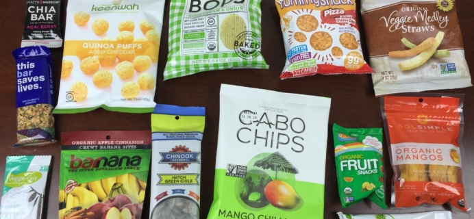 SnackSack Subscription Box Review & Coupon – August 2015