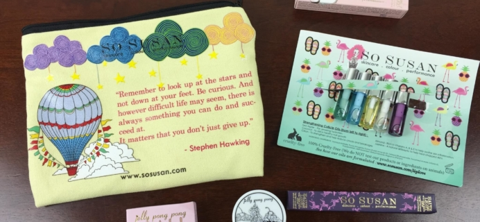 So Susan Lip Love Subscription Review – August 2015
