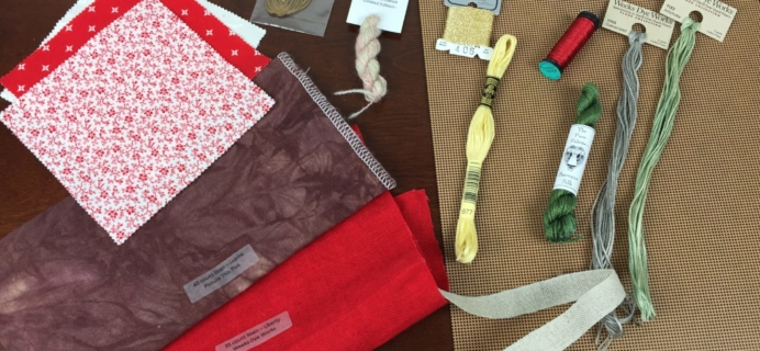StitchyBox Cross-Stitch + Fiber Art Subscription Box Review & Coupon – July 2015