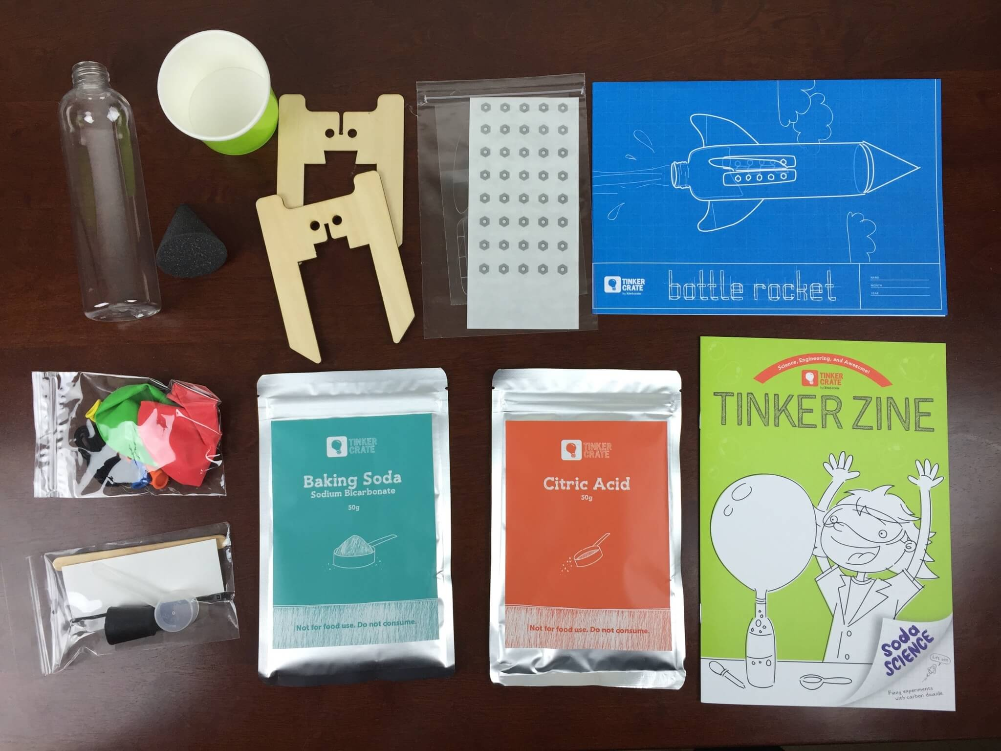 Tinker Crate August 2015 Bottle Rocket Review Coupon Hello