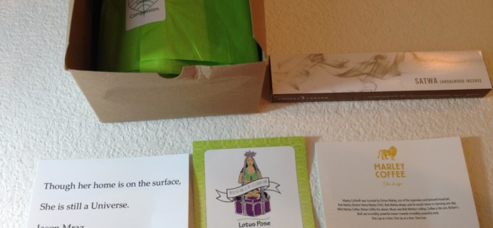 BuddhiBox Yoga Subscription Box Review + Coupon – August 2015