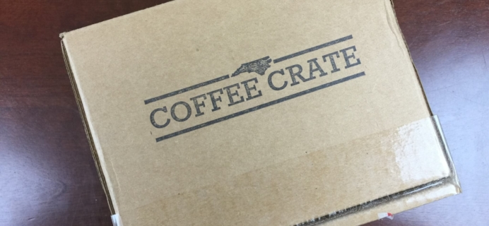 Coffee Crate Subscription Box Review & Coupon – August 2015