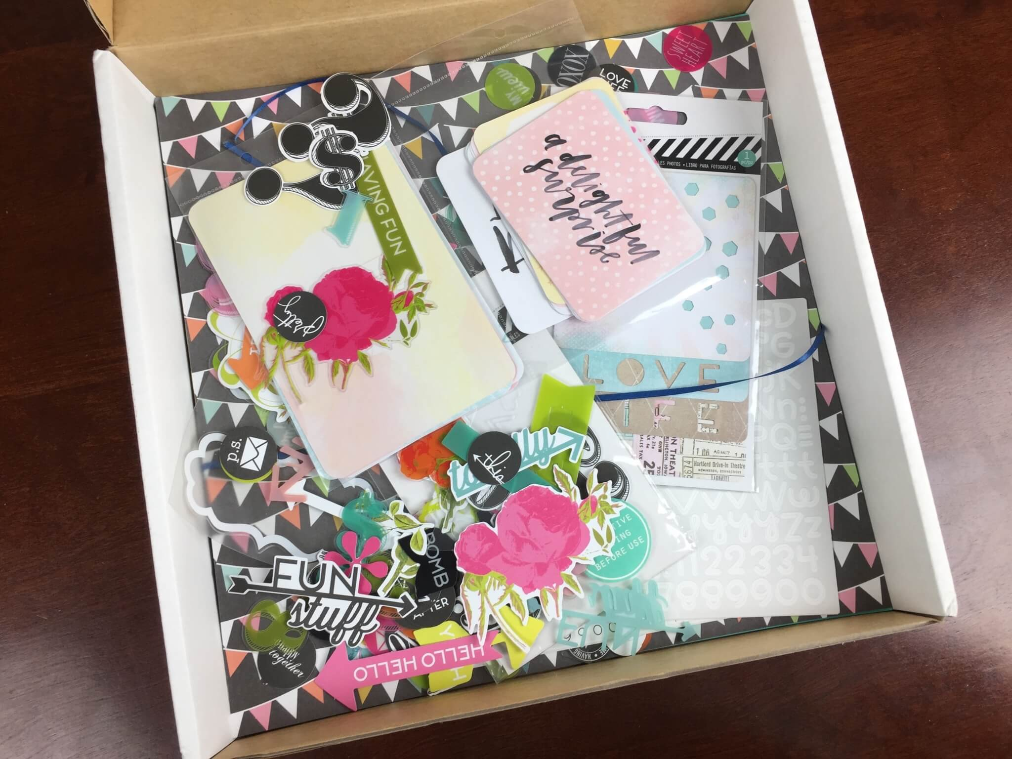 Paper Goose Scrapbooking Subscription Box Review August 2015