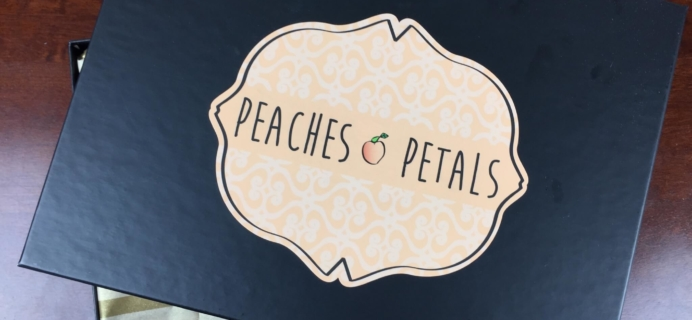 Peaches & Petals Subscription Box Review & 50% Off Coupon – September 2015