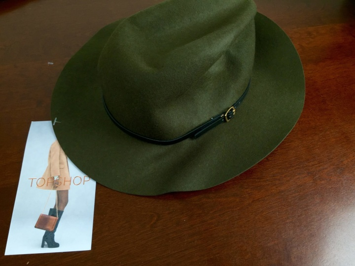 rachel zoe box of style fall september 2015 fedora hat