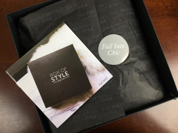 rachel zoe box of style fall september 2015 unboxing