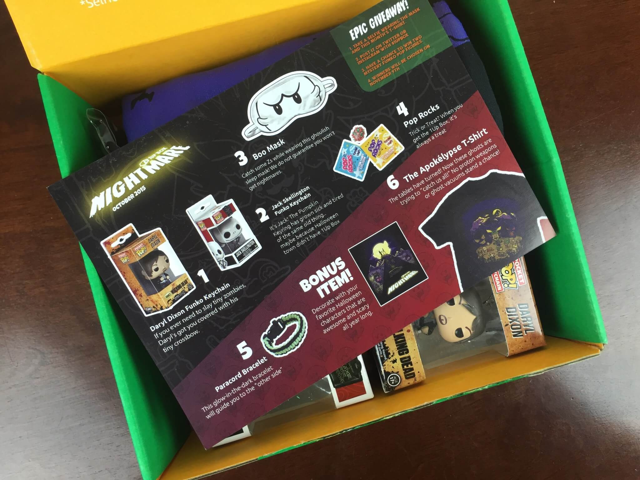 1up box october 2015 review