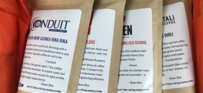 Bean Box Seattle Coffee Sampler: Indonesia Review & Coupons!