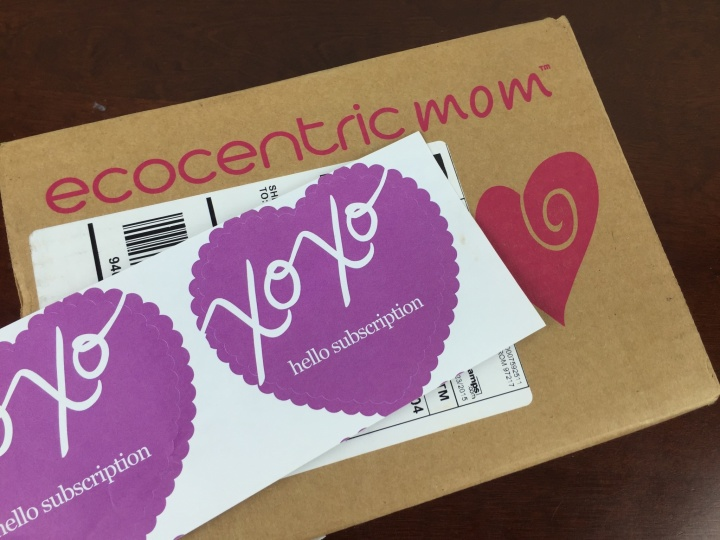 ecocentric mom october 2015 box