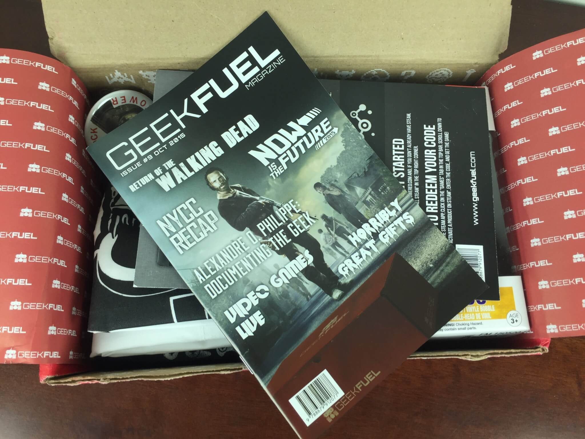 October 2015 Geek Fuel Subscription Box Review & Coupon – Still Available!