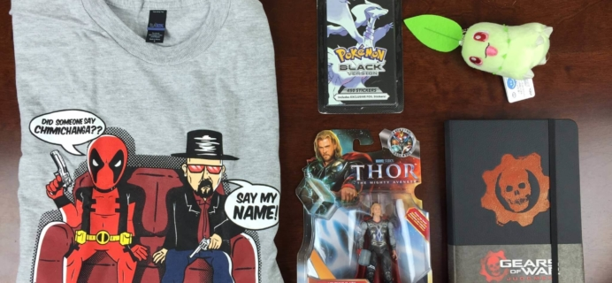 September 2015 Geek Me Box Subscription Box Review