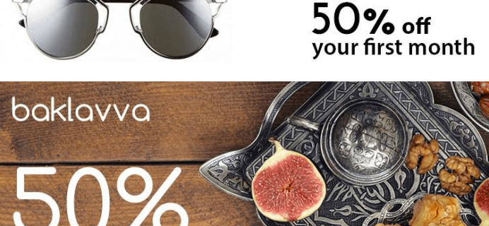2 New Subscription Boxes + Half Off Coupons: Sun of a Chic & Baklavva