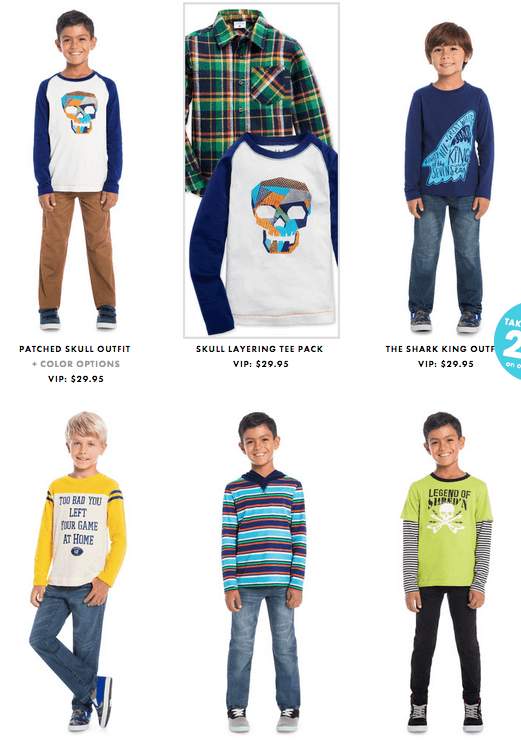 October 2015 FabKids Collection + First Outfit $9.95!