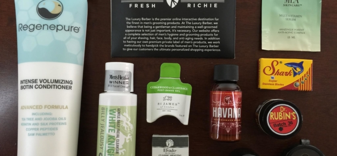 September 2015 Luxury Barber Men's Subscription Box Review