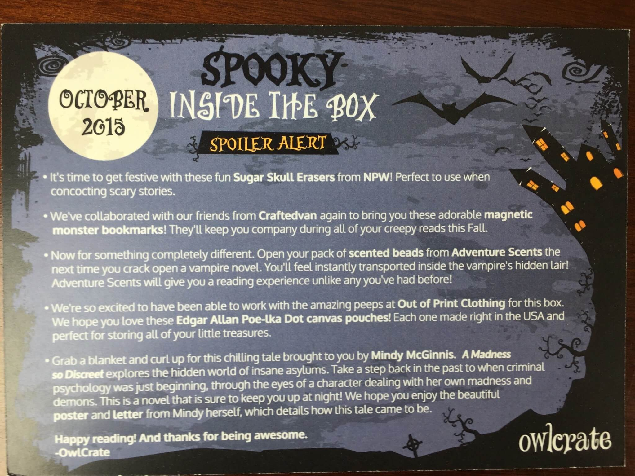 owlcrate october 2015 IMG_9409
