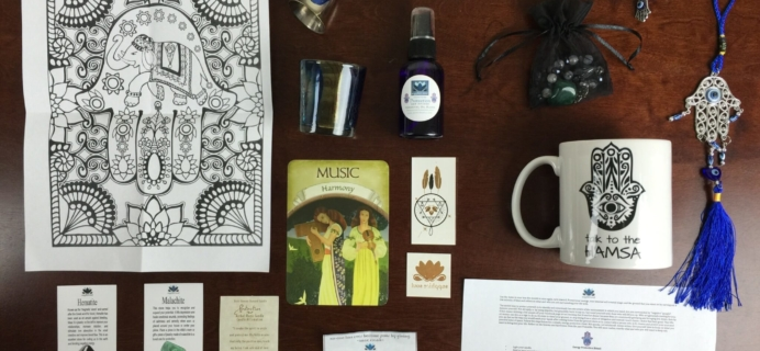 Sapphire Soul Subscription Box Review & Coupon – October 2015 Hamsa Magic Box