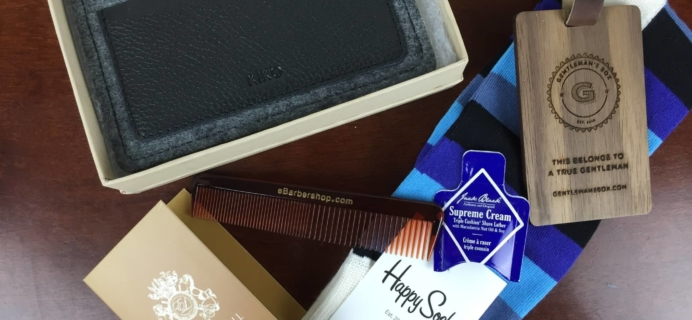 Gentleman's Box November 2015 Subscription Box Review