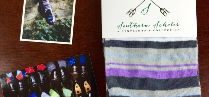 Southern Scholar Men's Sock Subscription Box Review & Coupon – November 2015