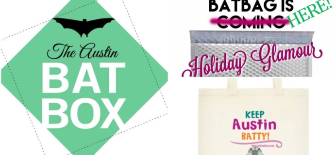 Austin BatBox December 2015 Spoilers + Black Friday Sales + Limited Edition BatBag!