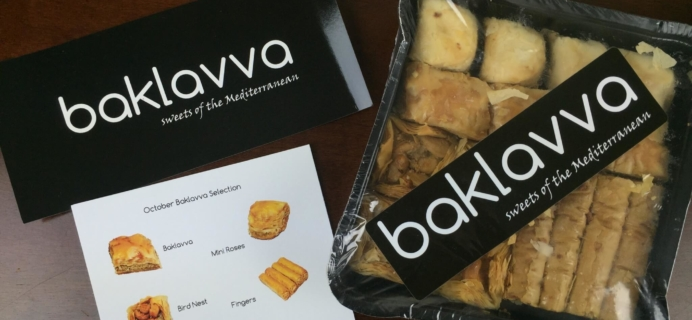 Baklavva Subscription Box Review & Coupon – November 2015