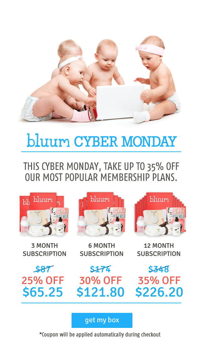 Bluum Cyber Monday Kid & Baby Subscription Box Deal: Up to 35% Off!